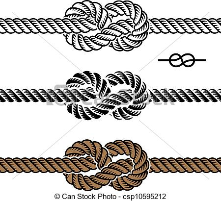 Drawn rope knot Vector knot of Vector symbols