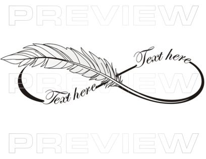 Infinity clipart writing Feather Custom Lettering Lettering Professional