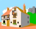 Inn clipart Inn Corel English house Xara