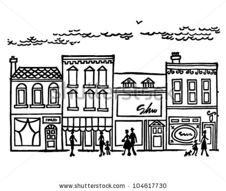Mall clipart black and white #9