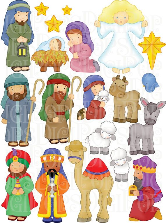 Angel clipart nativity scene Commercial and Nativity Pinterest Christmas