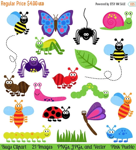 Insect clipart Etsy and Art Commercial Art