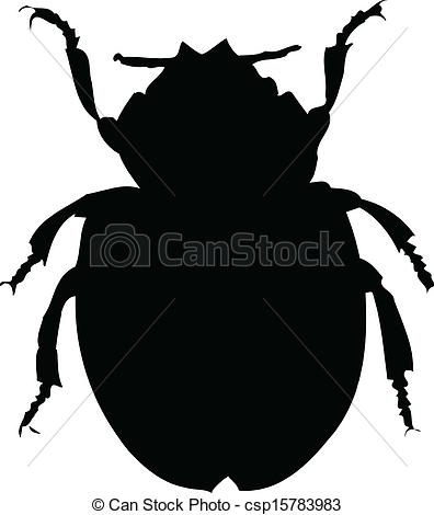 Beatle clipart silhouette Vector background  illustration of