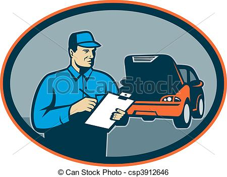 Inside clipart auto garage Mechanic repair clipboard Clip with