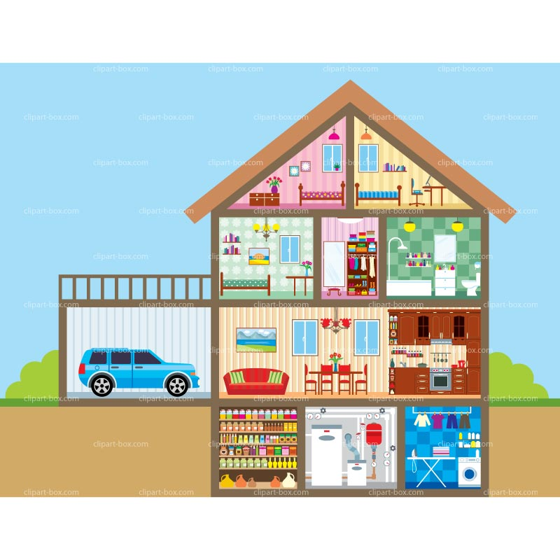 Bedroom clipart doll house #1
