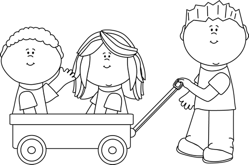 Inside clipart black and white Kids Art Clip Images Wagon