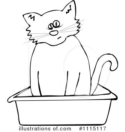 Inside clipart black and white #1115117 Cat djart by Clipart