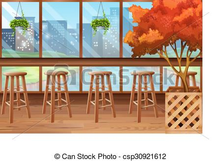 Inside clipart cafe Stools stools Clip  of