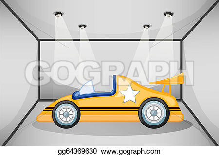 Inside clipart car garage The Clipart the A yellow