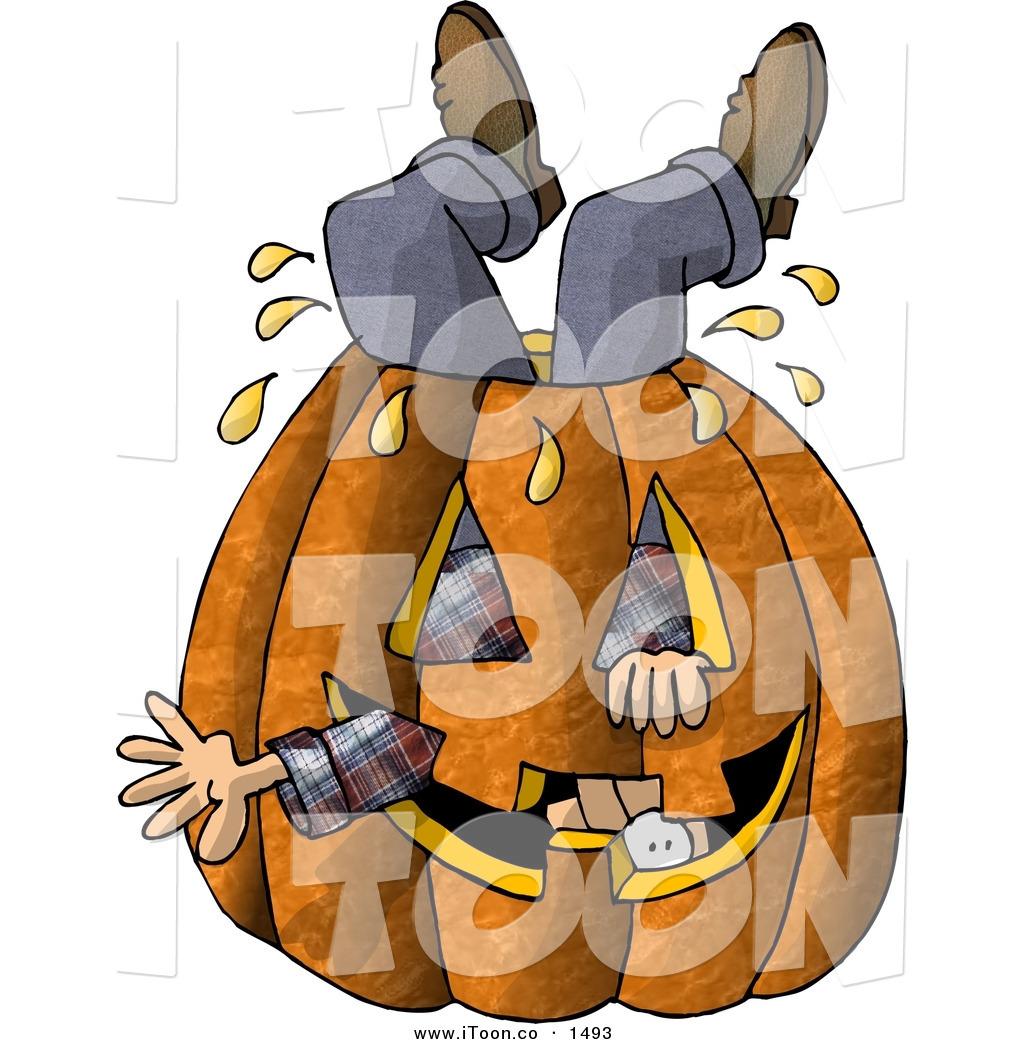 Inside clipart carved pumpkin Inside  Halloween Stuck Cartoon