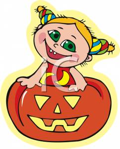 Inside clipart carved pumpkin Happy  Girl a of