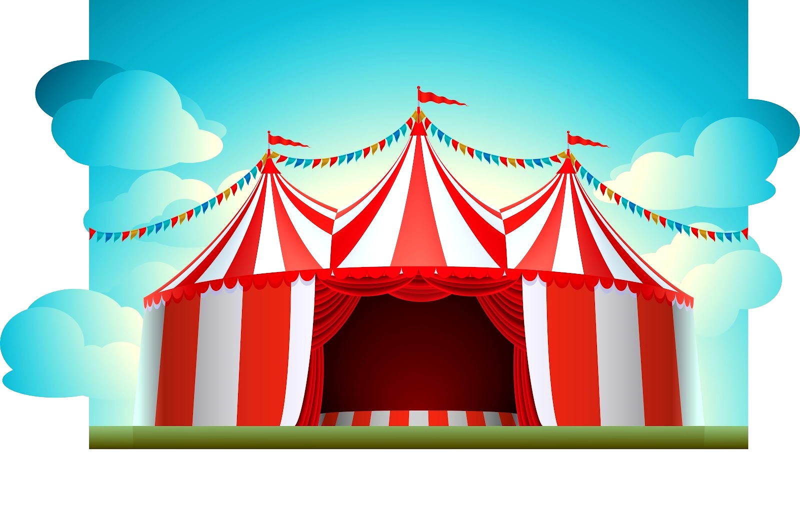 Carneval clipart background Festive Kid Tent  Background