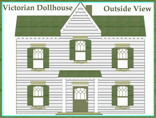 Inside clipart doll house BOTH doll and Victorian Views