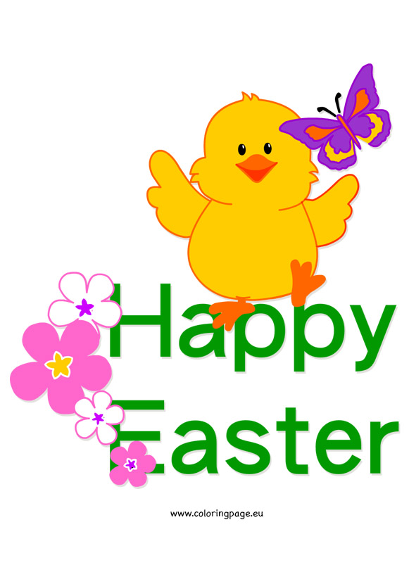 Inside clipart easter chick Inside Coloring  Easter Brilliant