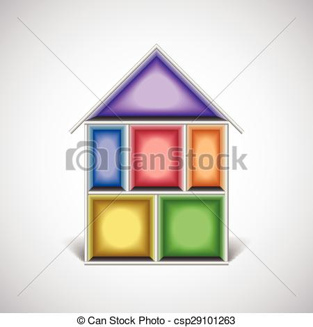 Inside clipart empty house House in in House cut;