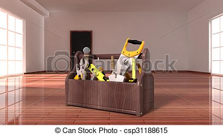 Inside clipart empty house Floor on Illustration Stock Toolbox
