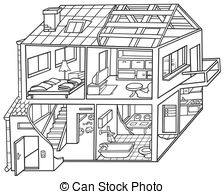 Inside clipart empty house White Attic Dwelling  House