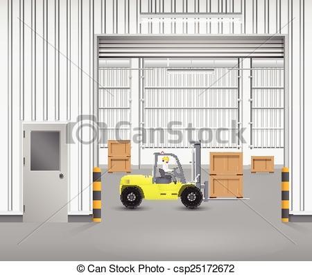 Inside clipart cafe Clip with inside Vectors Forklift