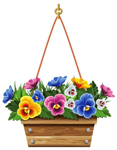 Pansy clipart potted flower #1
