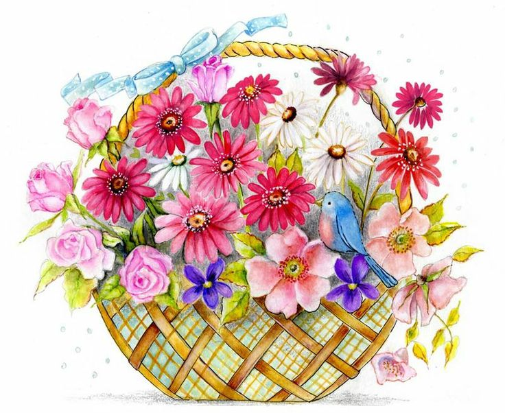 Inside clipart flower basket Etc Clip best on Art