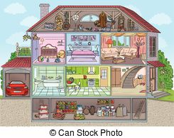 Bungalow clipart inside house Garage inside house Inside the