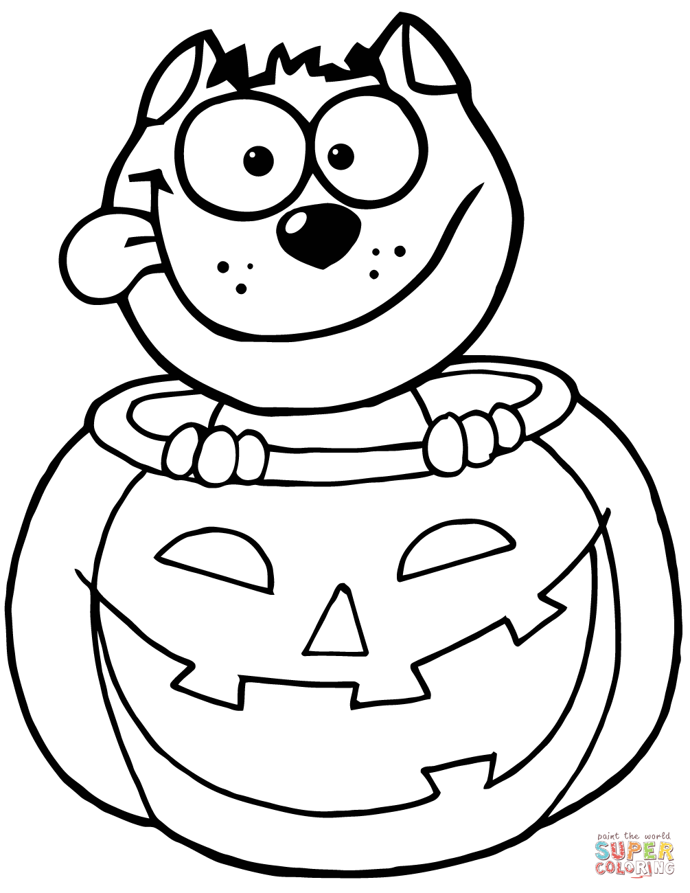 Inside clipart halloween pumpkin Free coloring Coloring pages Pumpkin