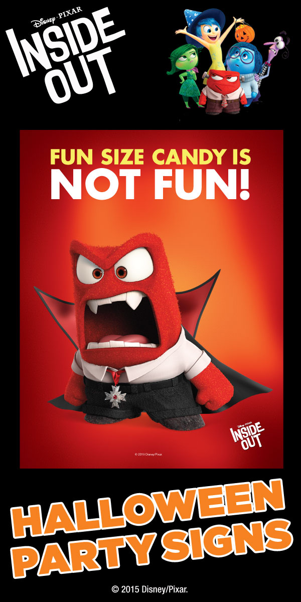 Inside clipart holloween FREE Disney Anger party FREE
