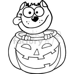 Inside clipart holloween Halloween Cartoon A Sitting Cat