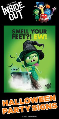 Inside clipart holloween FREE Disney Disgust party FREE