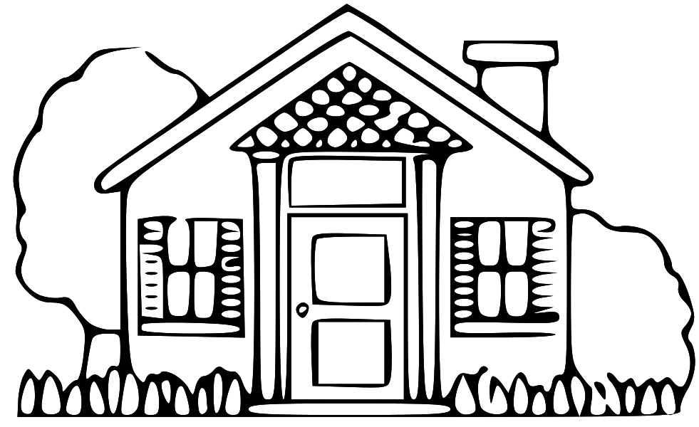 White clipart houseblack Drawing Clipart House clipart Free