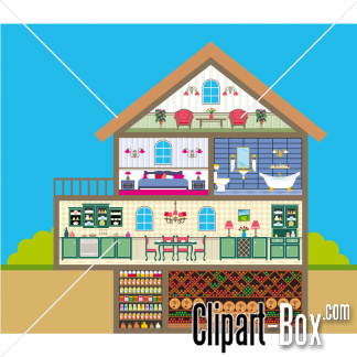Inside clipart house interior House clipart Download clipart inside