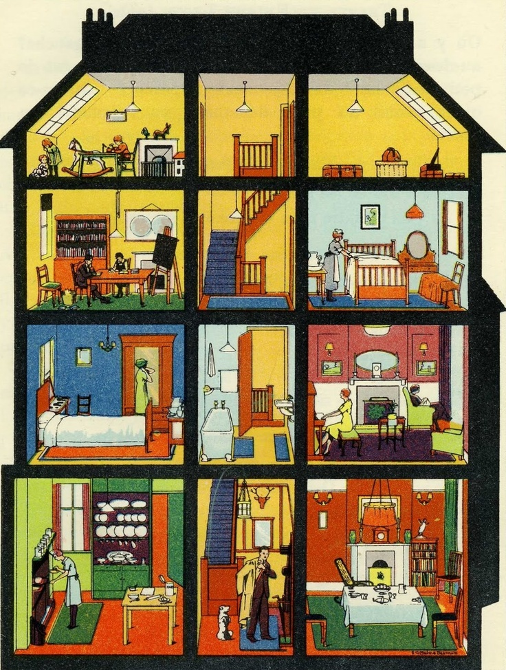 Bedroom clipart house interior Pin this on cross sections