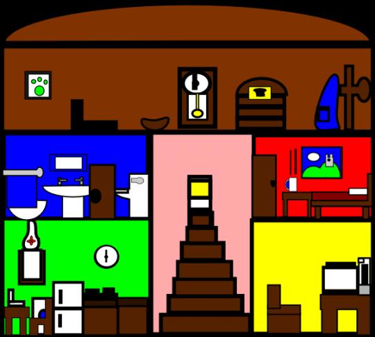Inside clipart inside house #8