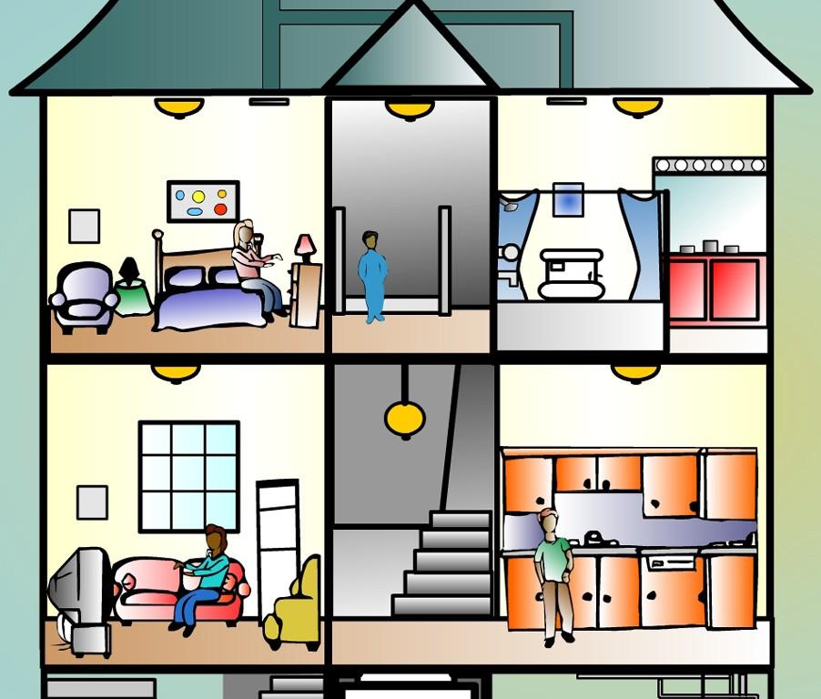 Hosue clipart inside house #5