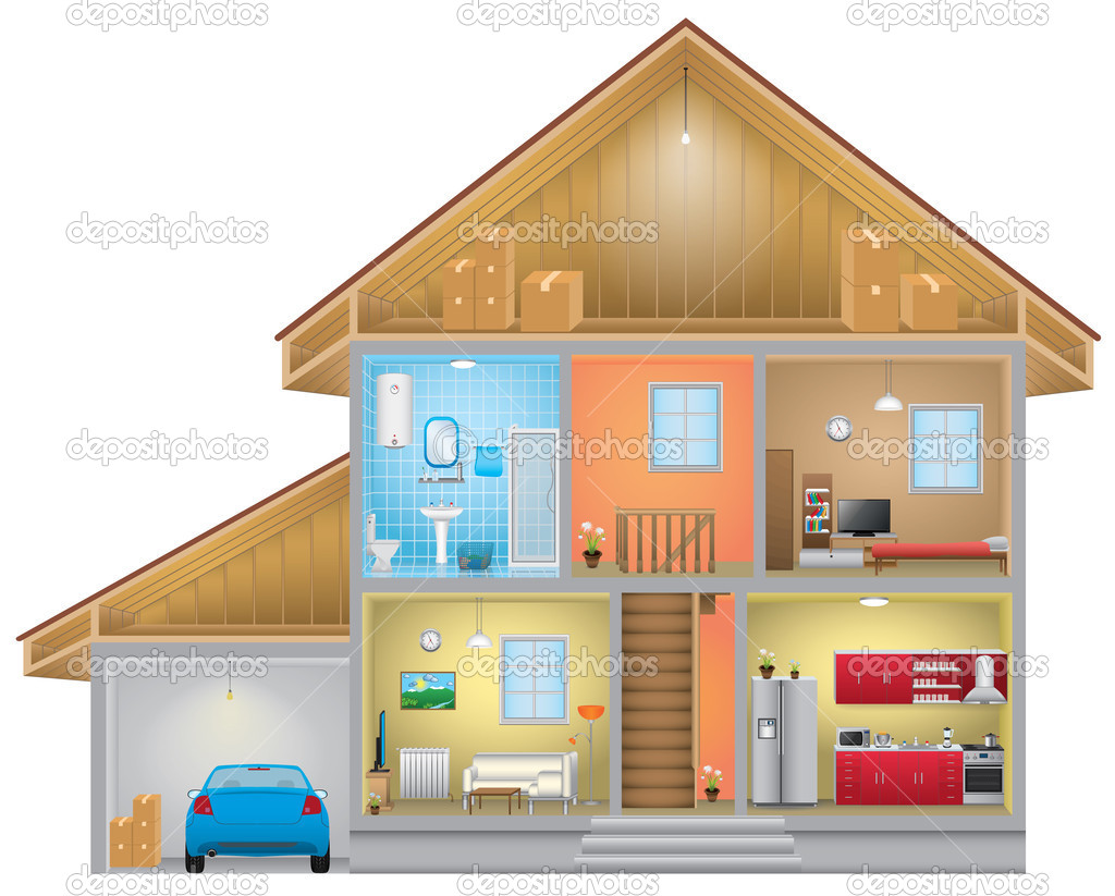 Hosue clipart inside house #10