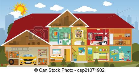 Hosue clipart inside house #3