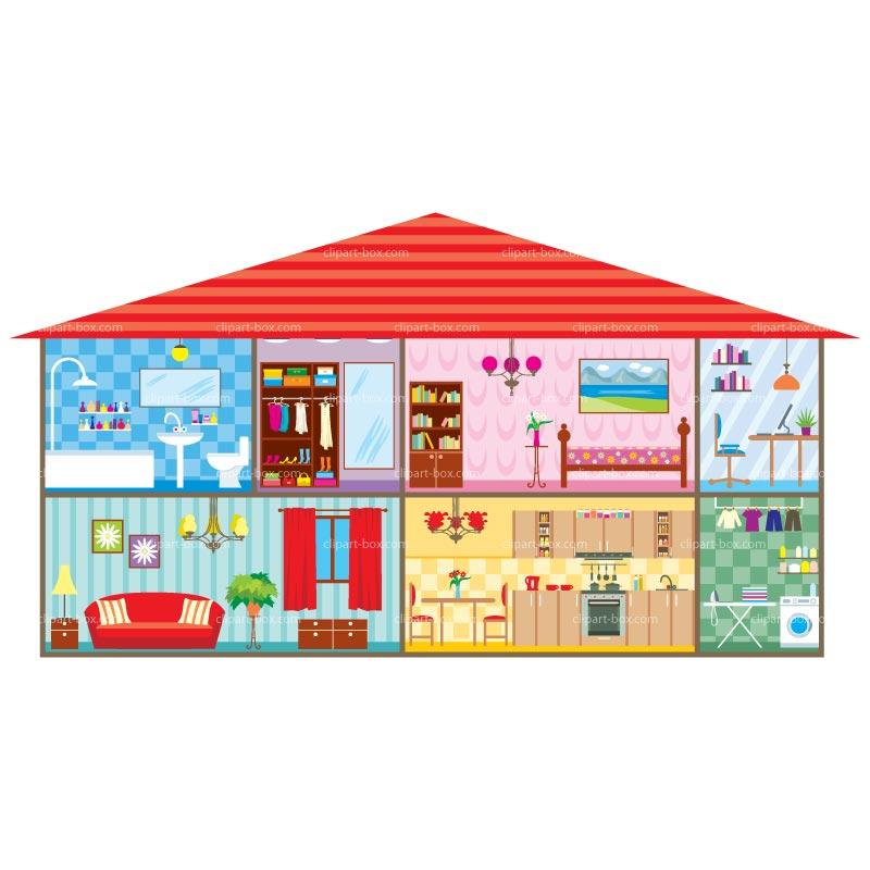 Hosue clipart inside house #14