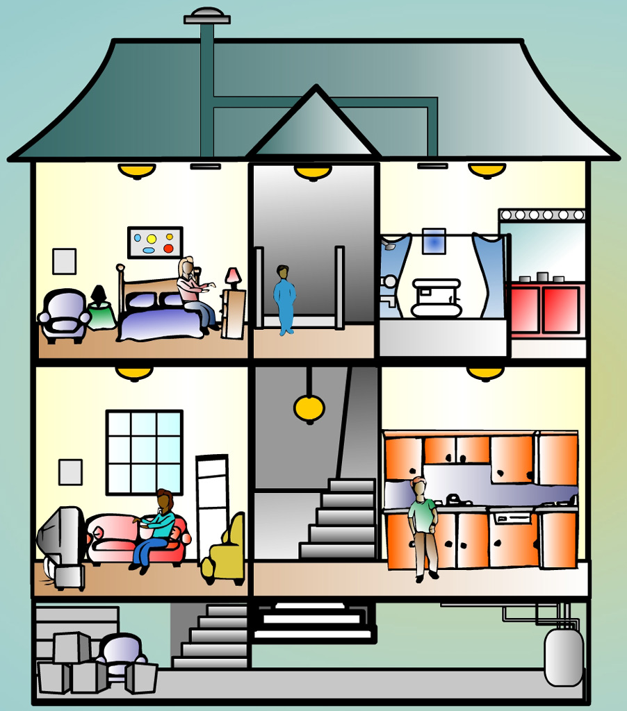 Kitchen clipart house room House House collection clipart house