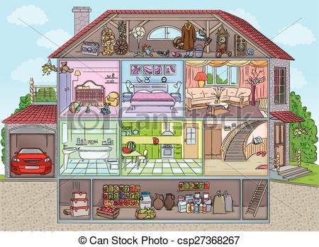 Hosue clipart inside house #15