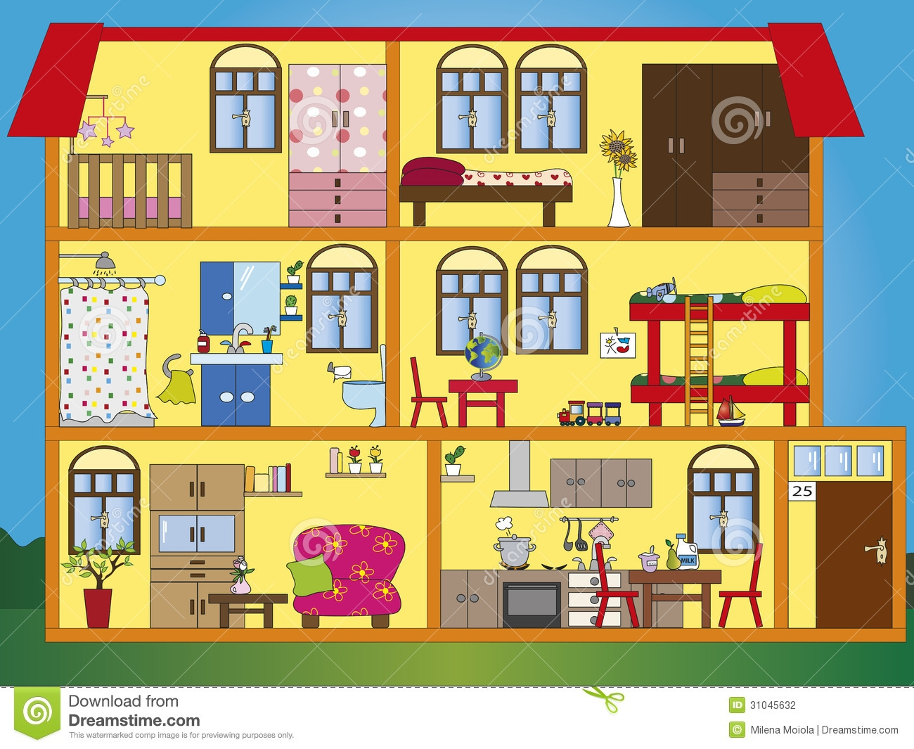 Hosue clipart my house Clip – Interior Clipart House