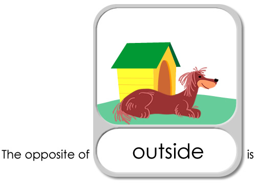 Inside clipart outside Opposite Children: Young Opposite