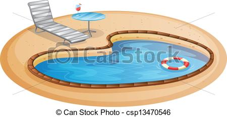 Inside clipart paddling pool A pool on swimming Vector