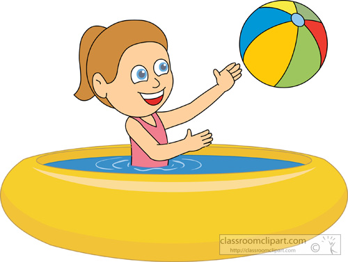 Inside clipart paddling pool Girls in clip (46+) Clip