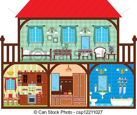 Drawn room cartoon house Of Inside A House House