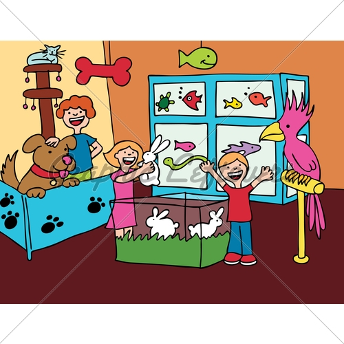 Inside clipart pet store Art Cat Coloring Coloring On