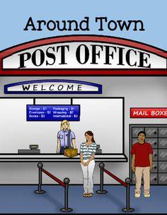 Inside clipart post office BUNDLE Clip Worksheets office art