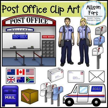 Inside clipart post office & on Mailman best Free