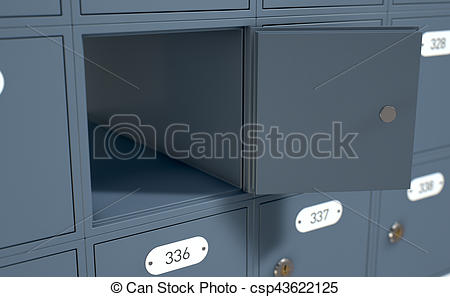 Inside clipart post office Render boxes of bank Office