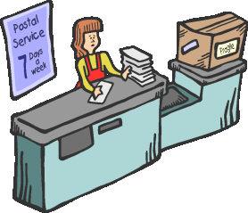 Inside clipart post office Clip Art Art Download –