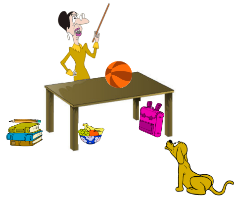 Bedroom clipart preposition In No and Location: at